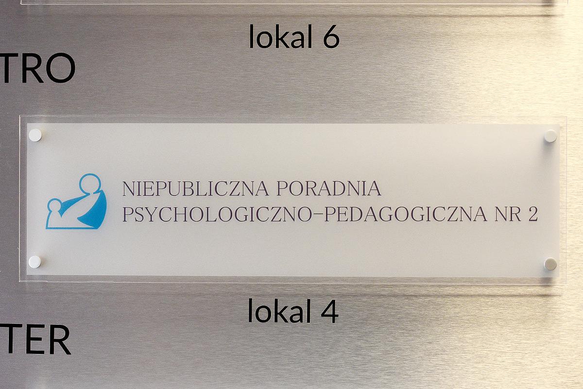 Tabliczka informacyjna z plexi